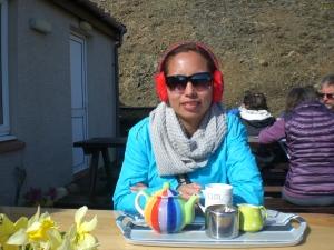 Drinking tea in the Isle of Skye (Scotland)