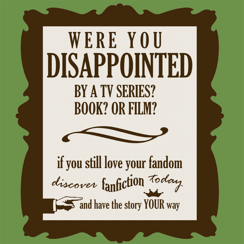 Writing fan fiction? cheer up! (1/5)